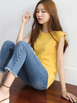 ローリー袖なしティーシャツ(5カラー)