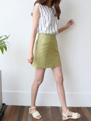ボベンリネンスカート(5カラー)