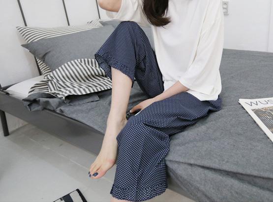 水玉パジャマパンツ