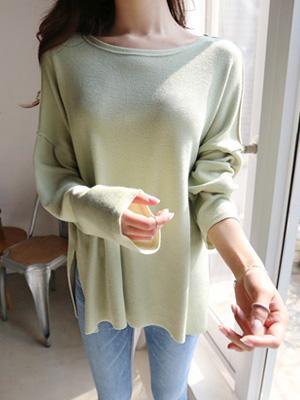 緑茶ラウンドネックティーシャツ