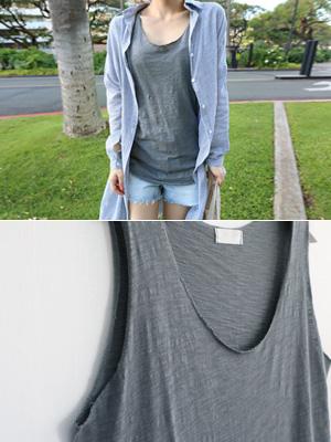 ハンディ袖なしティーシャツ(6カラー)