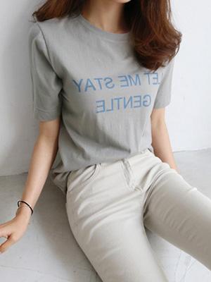 レタリング半そでティーシャツ