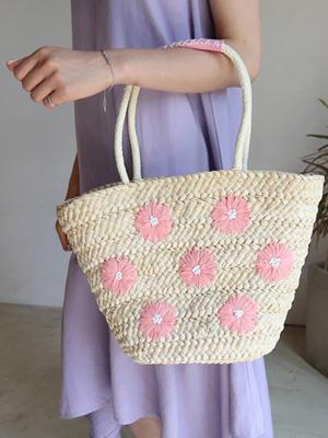 ラミン刺繍トートバッグ