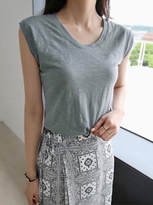 ジョイフル袖なしティーシャツ(7カラー)