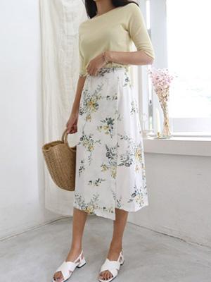 菜種フラワーラップスカート