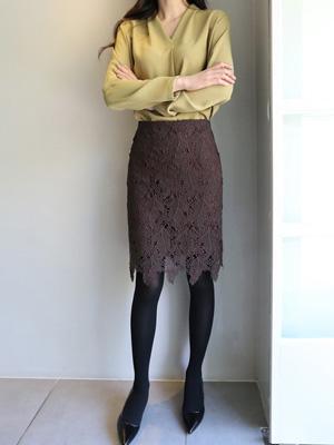 ベンチレイススカート