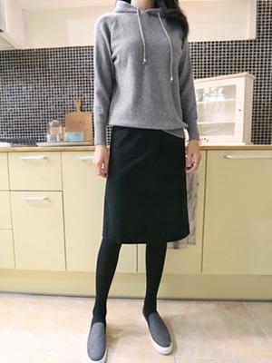 ローヒールポケットスカート