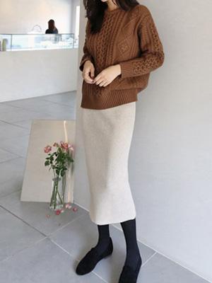 アーロンニットスカート(6カラー)