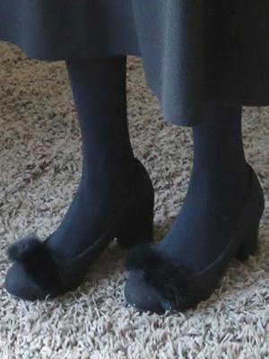 テビフォックスファー子猫ヒール(5.5cm)