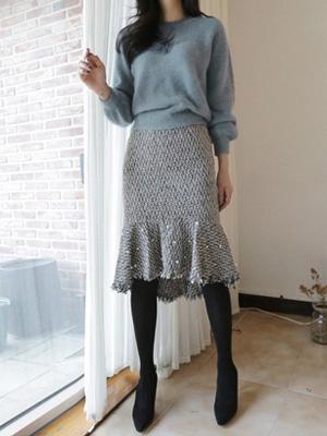 ローランド真珠ツイードスカート