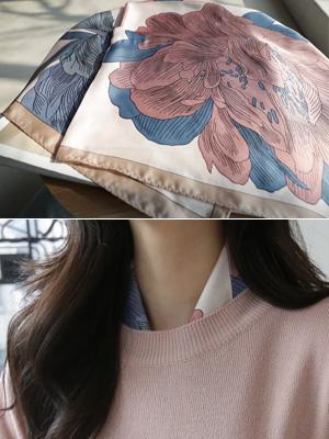 雨フラワースカーフ