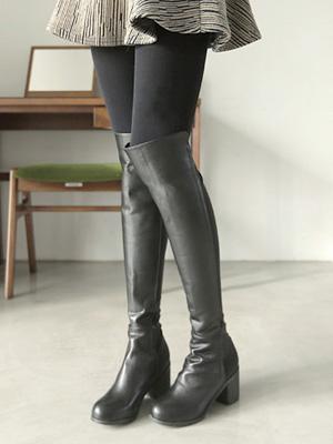 ハイテンションロングブーツ(6cm)(35%OFF)