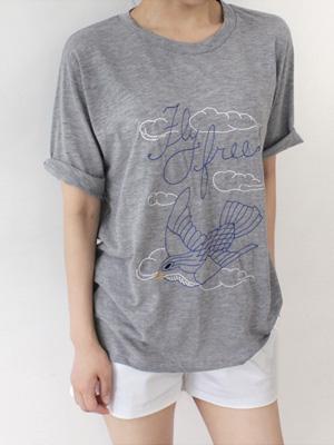 バードステッチティーシャツ(30%OFF)