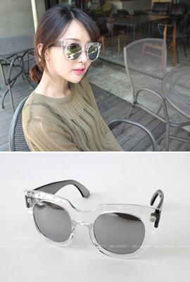透明ミラーサングラス