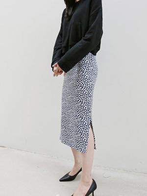ユオルレオパードニットスカート