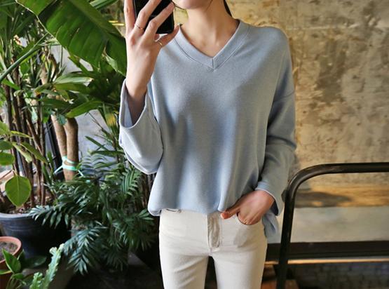 今日ブイネックティーシャツ(7カラー)