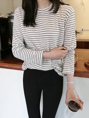 ミオミストライプティーシャツ(5カラー)