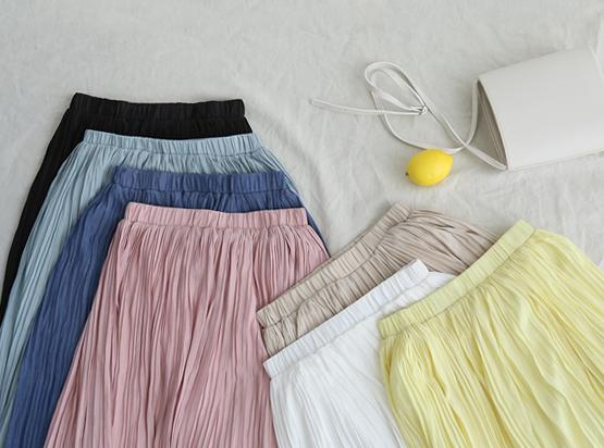 ビレのプリッツスカート(7カラー)