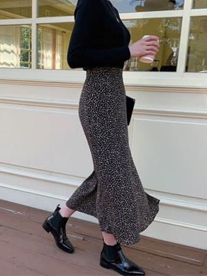 ベビールカレオパードロングスカート