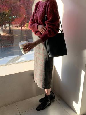 パームズチェックウールスカート