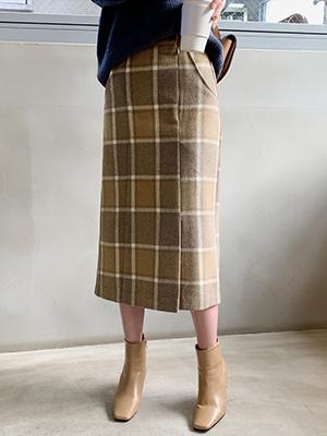 ハーゼンチェックウールスカート